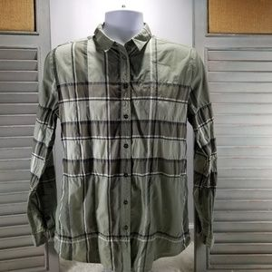 Burberry Brit Long Sleeve Women's Button Down L